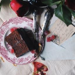 S.Valentino: torta con cacao, arancia e gin.